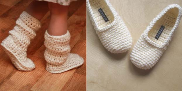 Patron para pantuflas a crochet - Imagui